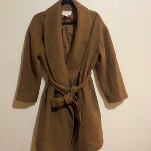 Brown H&M tie coat